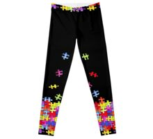 autism puzzle pieces Leggings