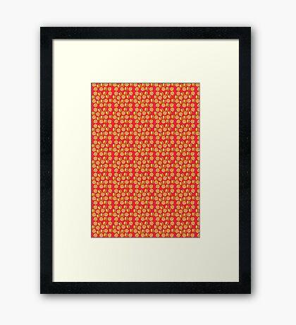 BURGER OR PIZZA Framed Print