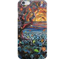 Red Moon Paper Painting iPhone Case/Skin