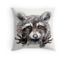Magic! // Raccoon Throw Pillow