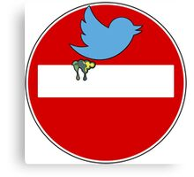 Twitter sign parody Canvas Print