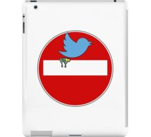 Twitter sign parody iPad Case/Skin