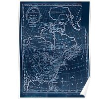 American Revolutionary War Era Maps 1750-1786 599 Map of the European settlements in North America Inverted Poster