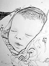 Baby in Blanket by Diane  Kramer