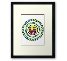 Smiley Face Optical Illusion Framed Print