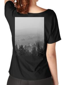 Peak to Peak Highway Snowstorm Study 2  Women's Relaxed Fit T-Shirt