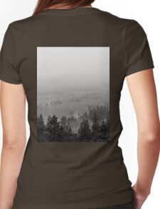 Peak to Peak Highway Snowstorm Study 2  Womens Fitted T-Shirt