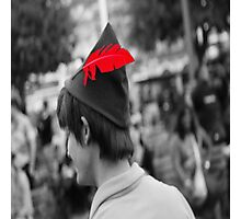 Peter Pan's Red Feather Photographic Print