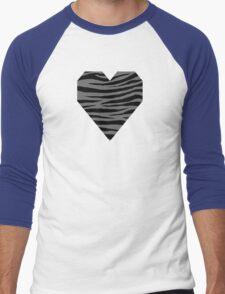 0228 Dim Gray Tiger Men's Baseball ¾ T-Shirt
