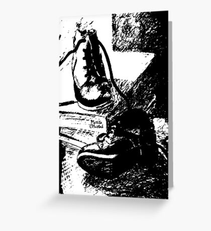 Shoes and Books Greeting Card