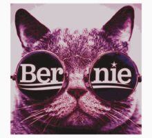 pink Bernie cat Kids Tee