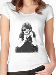 Girl in black Women's Fitted Scoop T-Shirt
