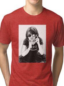 Girl in black Tri-blend T-Shirt