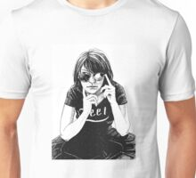 Girl in black Unisex T-Shirt