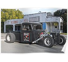 1938 Ford Rat Rod Pickup 'Pass Side' Poster