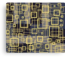 Black Yellow and Gray Retro Design - by Maria Eames Canvas Print
