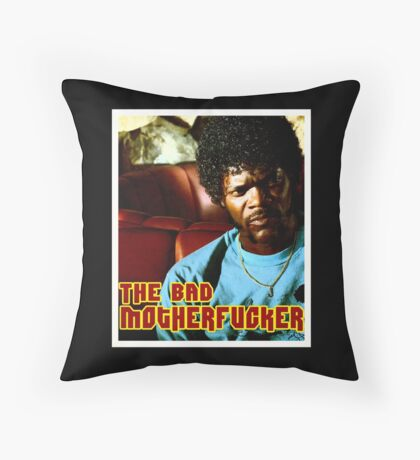 "Pulp Fiction- Jules ""The Bad Motherfucker"" Throw Pillow"