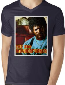 """Pulp Fiction- Jules """"The Bad Motherfucker"""" Mens V-Neck T-Shirt"""