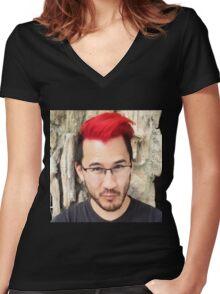 Reddiplier Women's Fitted V-Neck T-Shirt