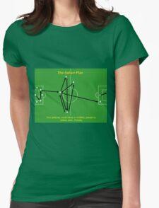 Italian Plan Football Funny Tactics Womens Fitted T-Shirt