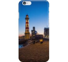 Small light house in Malmö harbour iPhone Case/Skin