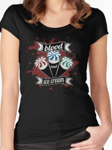 Blood & Ice Cream - Colour Women's Fitted Scoop T-Shirt