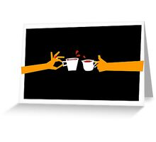 Murder At Tea Time Greeting Card