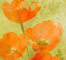 Tulips in grunge Sticker