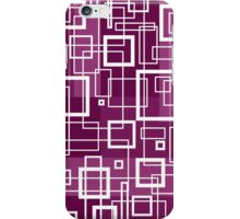 Violet and White Retro Design - by Maria Eames iPhone Case/Skin