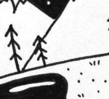Landscape in leaf Sticker