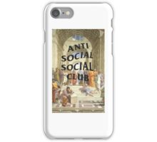 anti social social club x raphael iPhone Case/Skin