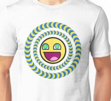 Smiley Face Optical Illusion Unisex T-Shirt