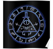 Bill Cipher Zodiac in Blue Poster