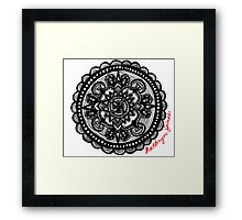 Compass Design by kathrynjinae Framed Print