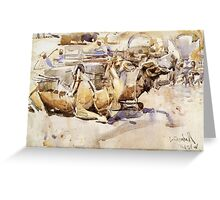 Joseph Crawhall - Camels Greeting Card