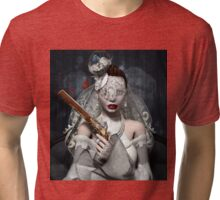 Bride with gun Tri-blend T-Shirt