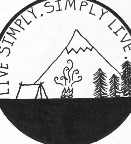 Live Simply. Simply Live. Sticker
