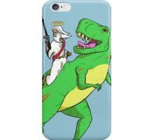 Jesus Riding a Dinosaur iPhone Case/Skin