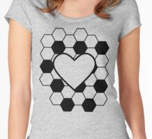 Heart for Soccer Women's Fitted Scoop T-Shirt