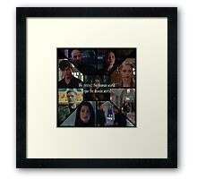 We protect the human world. Framed Print