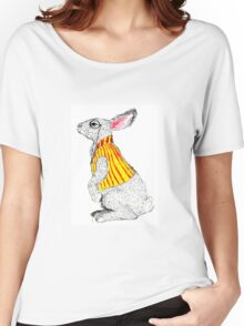 Waistcoated White Rabbit Women's Relaxed Fit T-Shirt