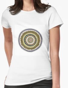 green and blue mandala Womens Fitted T-Shirt