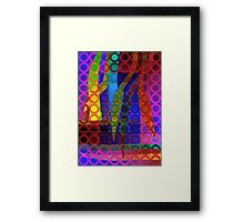 Purple Garden Framed Print