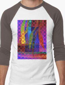 Purple Garden Men's Baseball ¾ T-Shirt