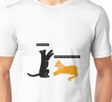 X-files Cats: Spooky stuff isn't real, Mulder Unisex T-Shirt
