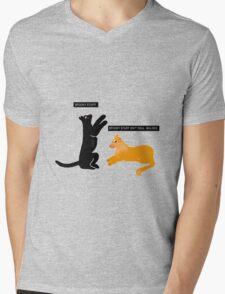 X-files Cats: Spooky stuff isn't real, Mulder Mens V-Neck T-Shirt
