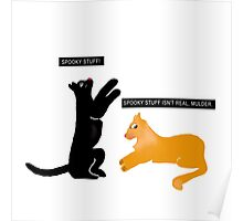 X-files Cats: Spooky stuff isn't real, Mulder Poster