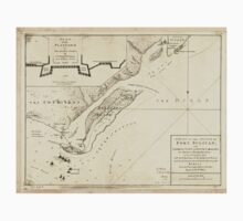 American Revolutionary War Era Maps 1750-1786 207 A plan of the attack of Fort Sulivan near Charles Town in South Carolina by a squadron of His Majesty's Kids Tee
