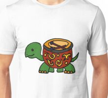 Funny Cool Turtle with Bongo Drum Shell Unisex T-Shirt