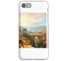 Joseph Mallord William Turner - Kirkstall Lock, on the River Aire  iPhone Case/Skin